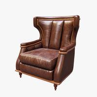 3D chair theodore alexander