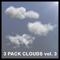 3D Clouds - 3 PACK - vol3