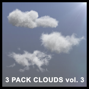 3D 3 pack clouds