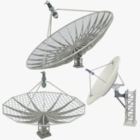 satellite dishes set v5 3D