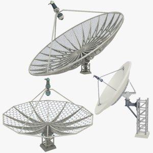 satellite dishes set v5 3D