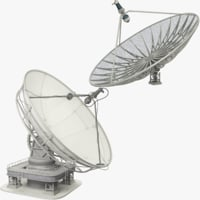 satellite dishes set 3D model