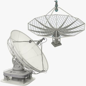 3D satellite dishes set model
