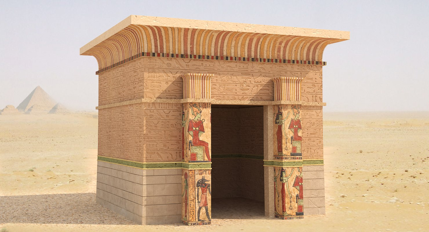 3D ancient egyptian model