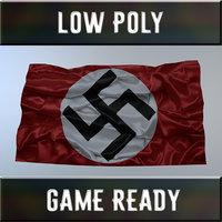 3D flag nazi germany