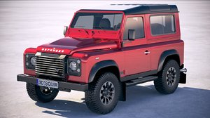3D land rover defender model