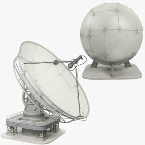 satellite dishes set model