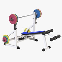 3D model weight lifting bench