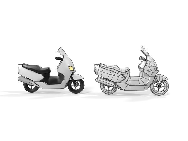 motorcycle cartoon 3D model