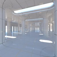Classic Futuristic Interior Scene 2
