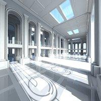 3D classic interior scene model