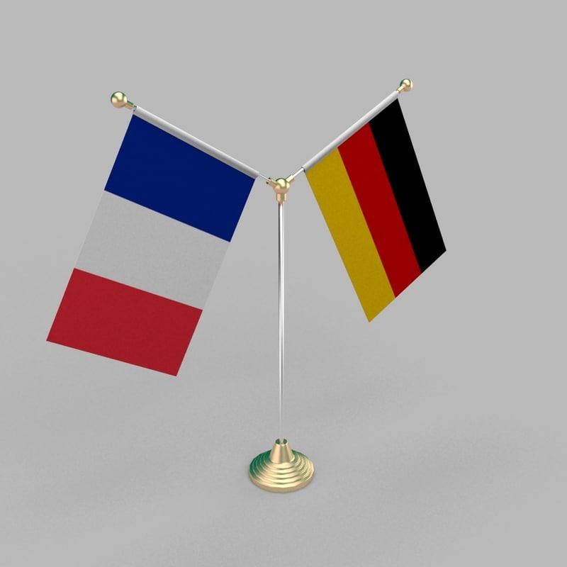 table friendship flag 3D