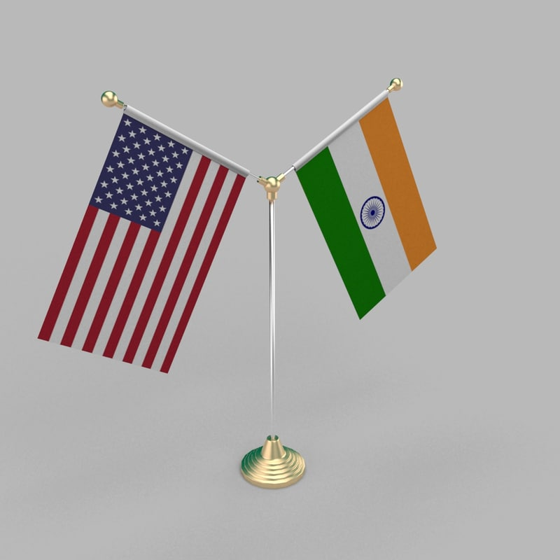 table friendship flag 3D model