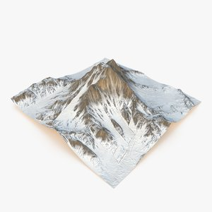 3D snowy mountain - snow model