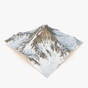 3D snowy mountain - snow model