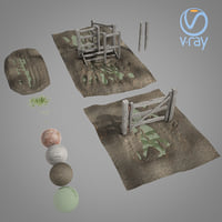 paddock gates pack 3D model