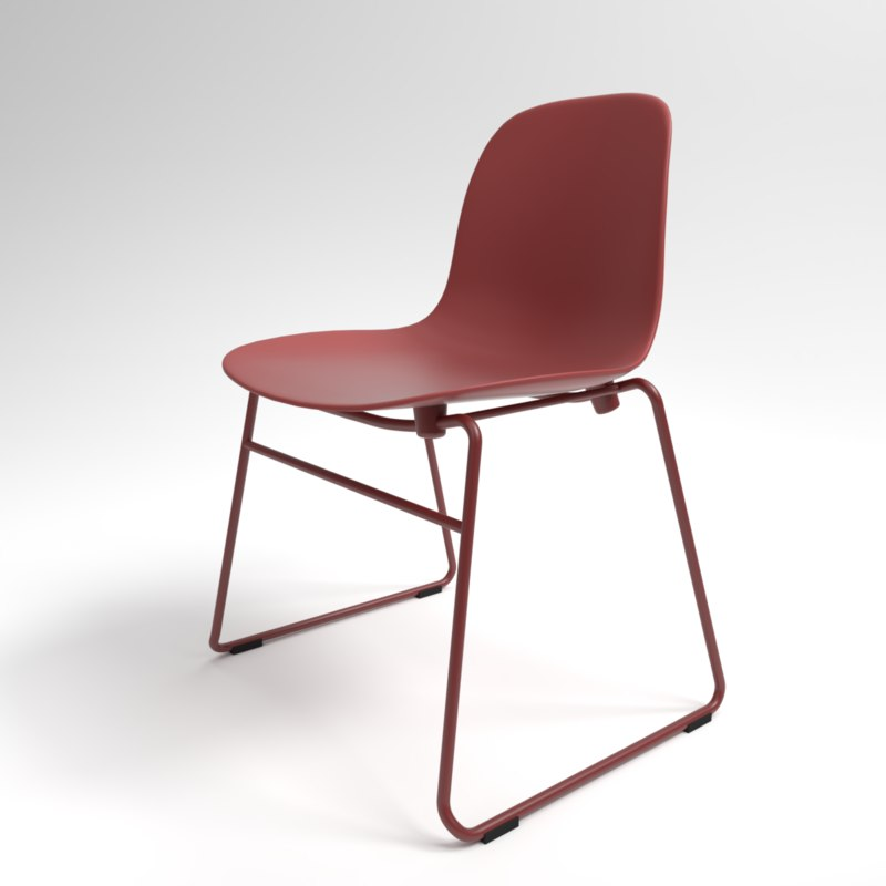 interior normann form stacking chair 3D model