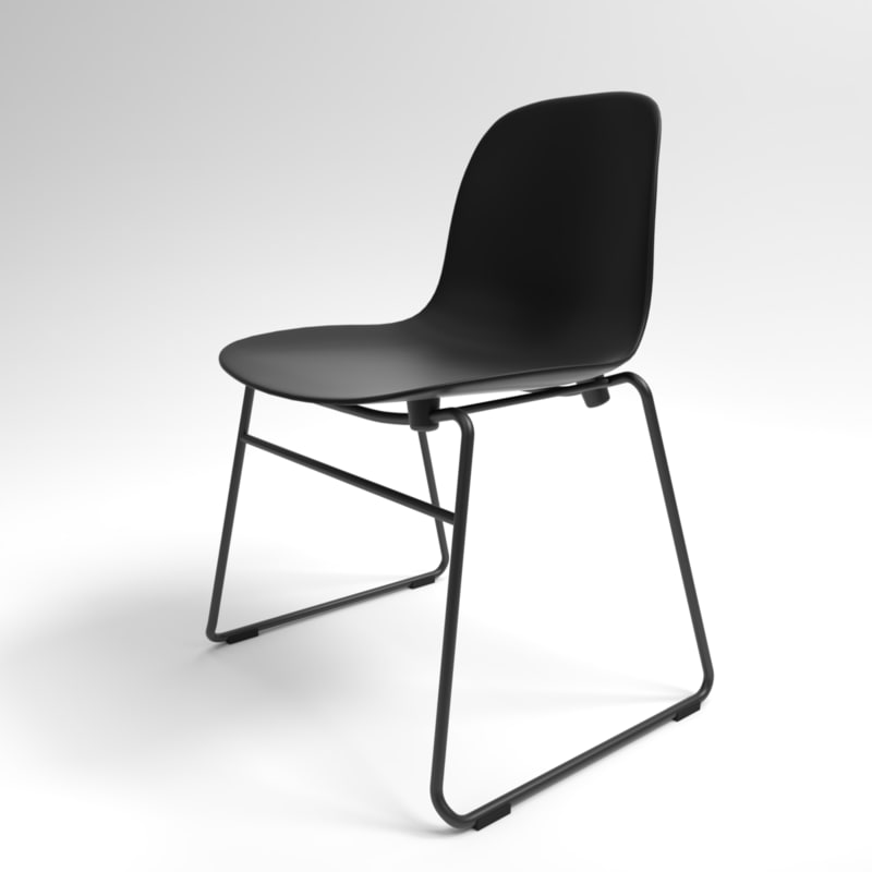 3D interior normann form stacking chair