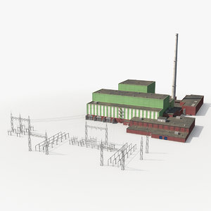 3D nuclear power station model