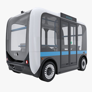 olli self driving electric 3D model