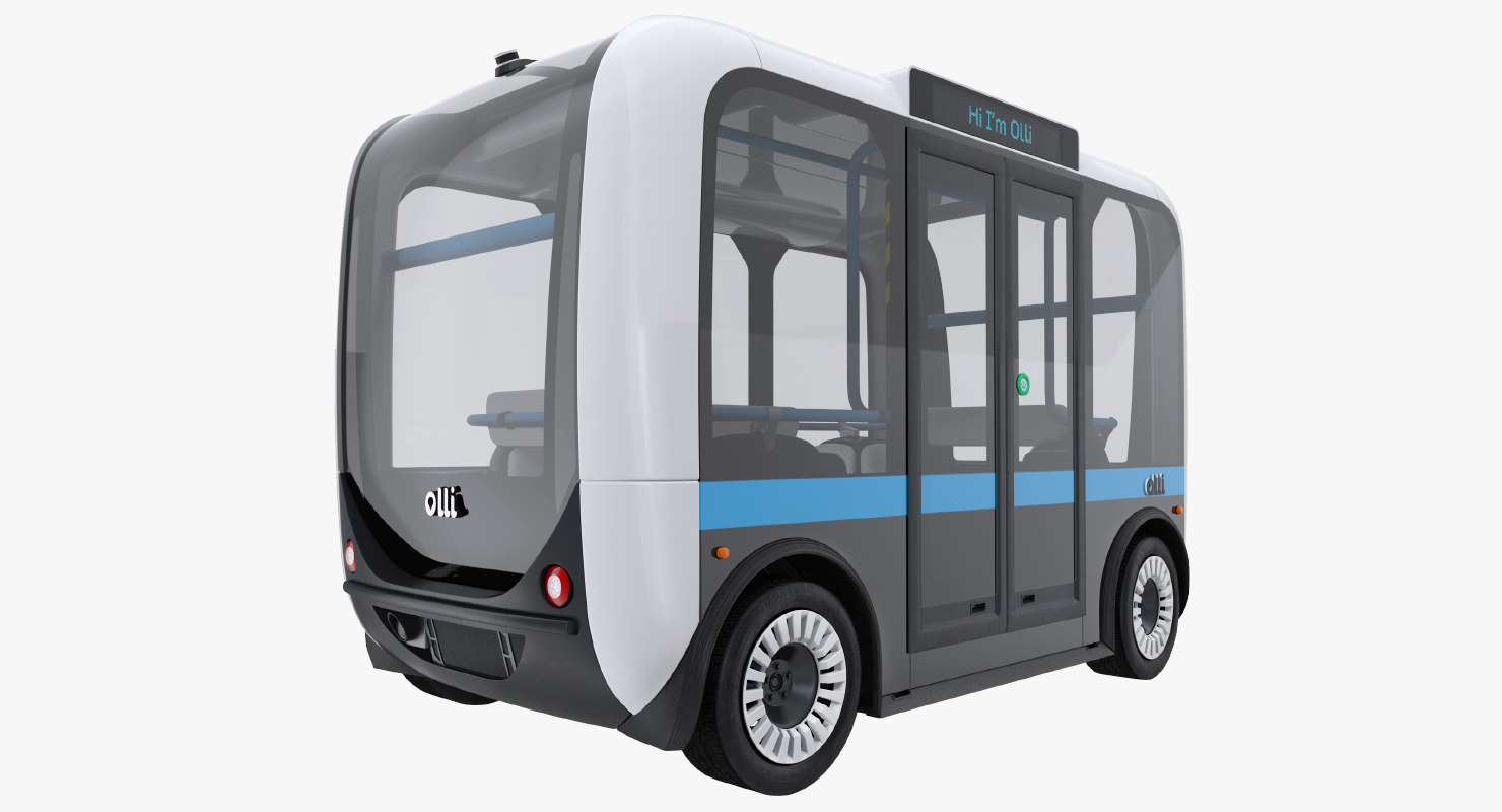 olli self driving electric 3D model