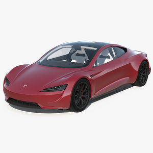 3D model tesla roadster
