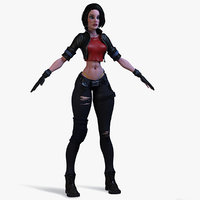 3D special girl cop model