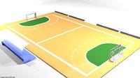 3D court handball model