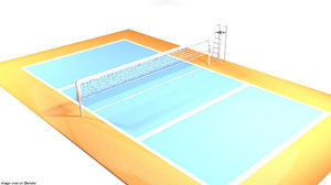 ball court volleyball 3D model