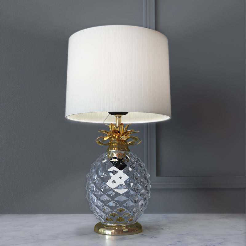 decorative lamp glamour pineapple 3D
