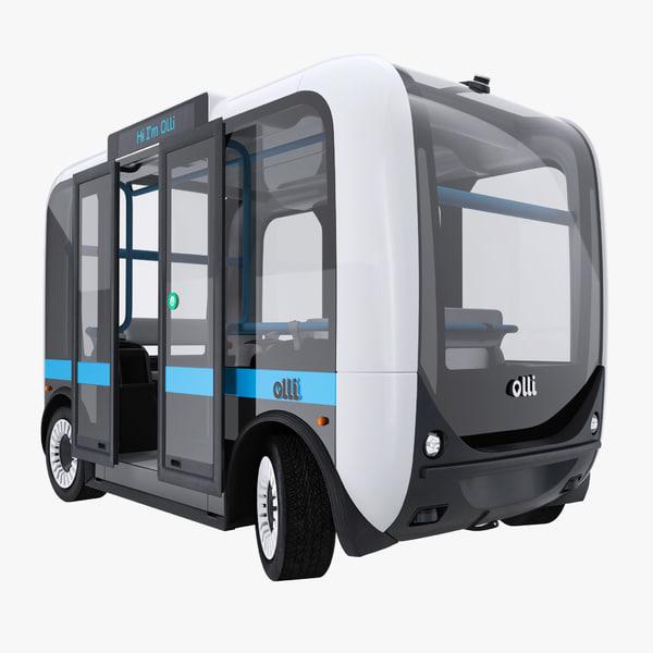 3D model olli self driving electric