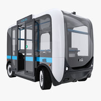 Olli Self Driving Electric Bus Rigged