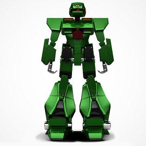 3D model robot green