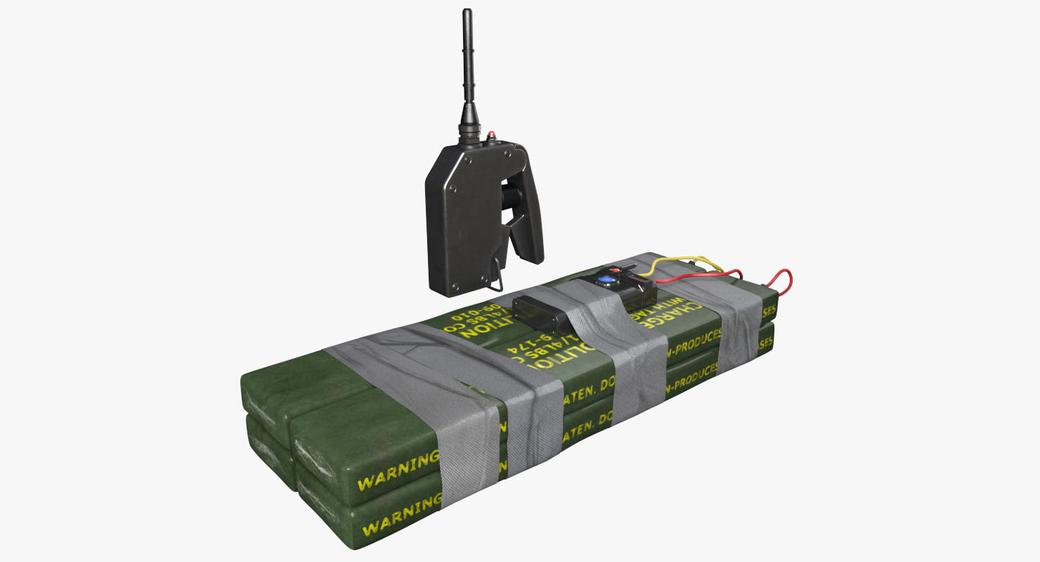 c4 plastic bomb remote 3D model