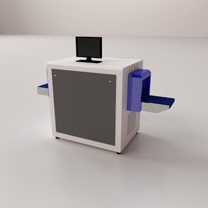baggage metal detector 3D model