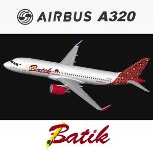 airbus a320 batik air model