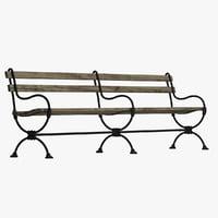 3D model bench 18