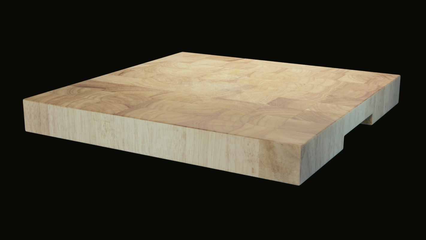 3D wooden cutting board wood