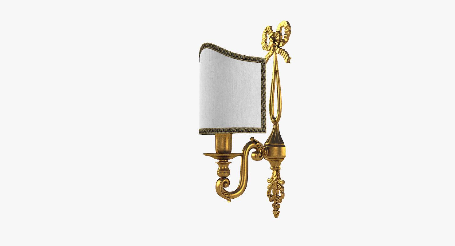 classical wall lamp 3D model