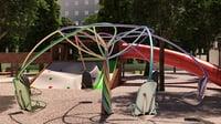 playground roundabout merry-go-round 3D