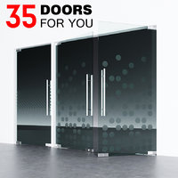 door fitting glass 3D