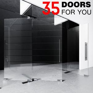 3D door fitting glass