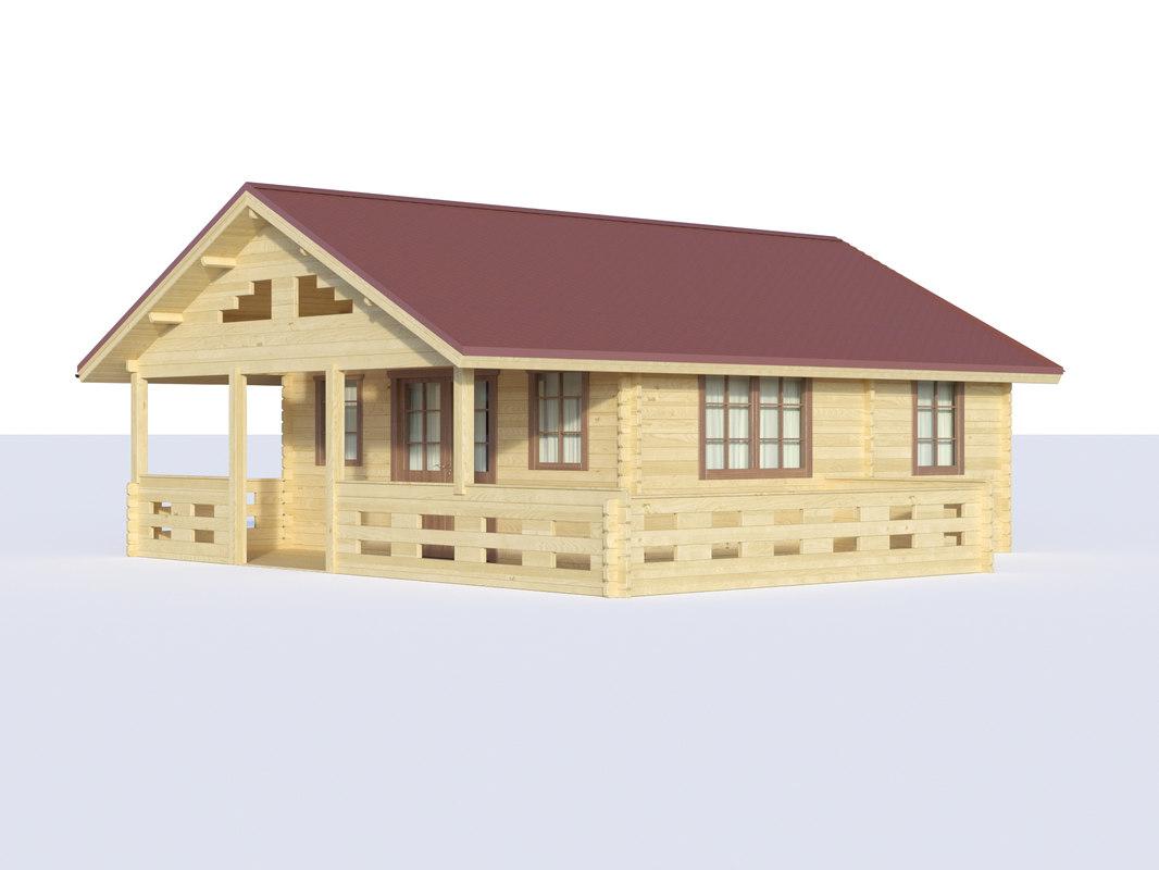 cottage siding 3D model