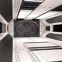 3D sci fi corridor 02