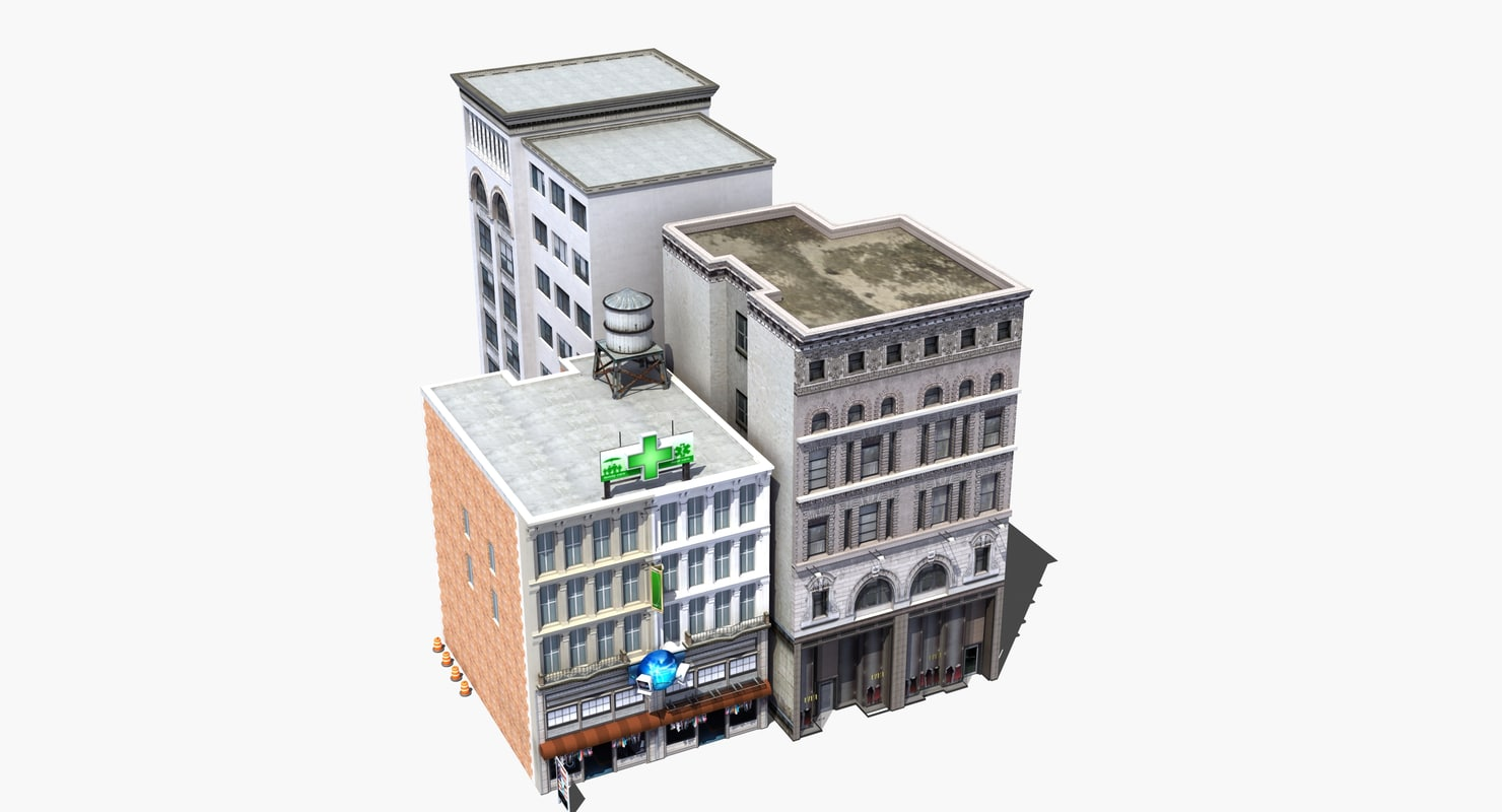 3D complex buildings model