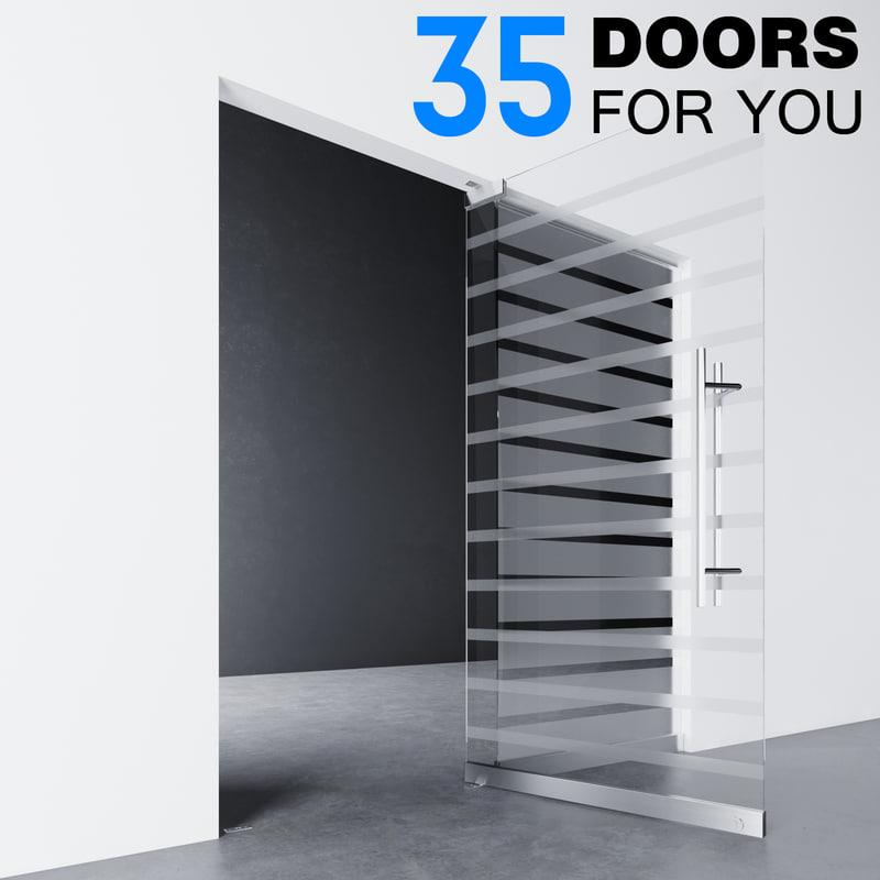 glass door model