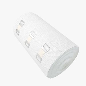 3D model bandage clips big