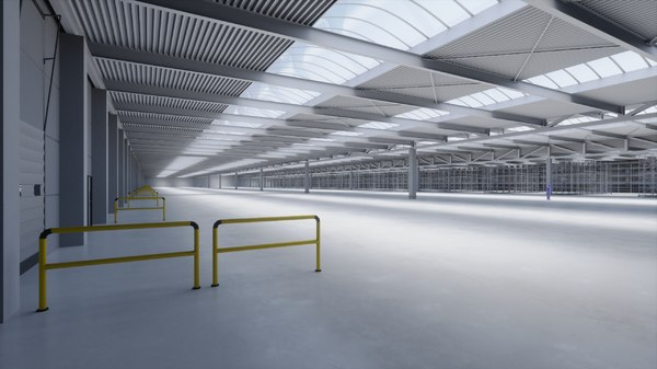 3D industrial building interior 1