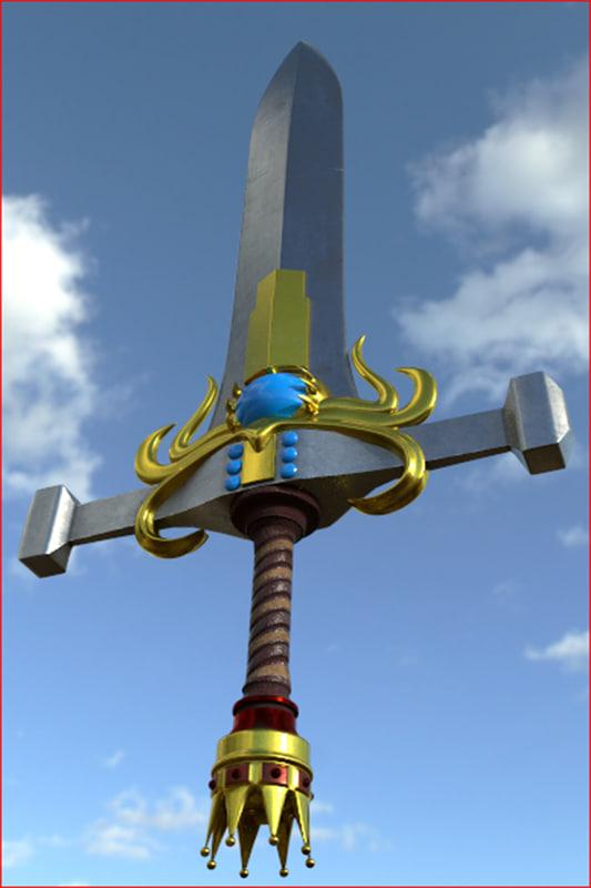 fantasy sword 3D