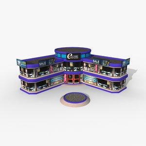 3D cartoony electronic store